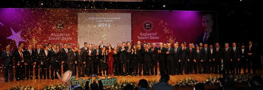 GAZİANTEP'İN YILDIZLARI ÖDÜL TÖRENİ'NE 4 BAKAN BİRDEN KATILDI