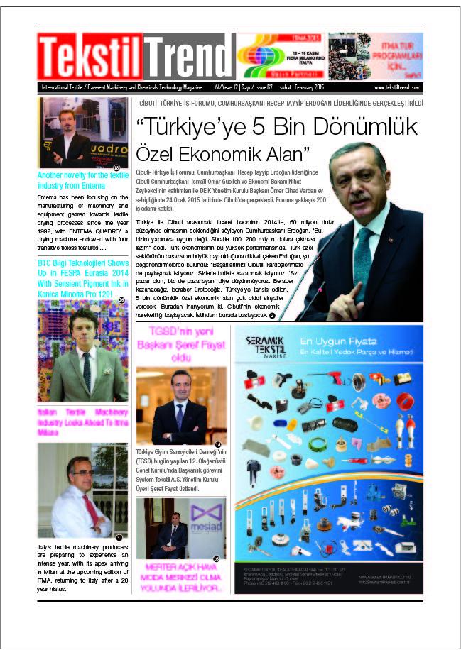Tekstil Trend Dergisi Şubat Sayısı