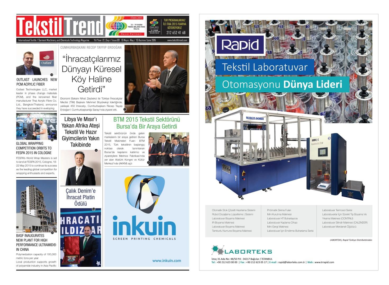 Tekstil Trend Dergisi Mayıs / May 2015 Sayısı