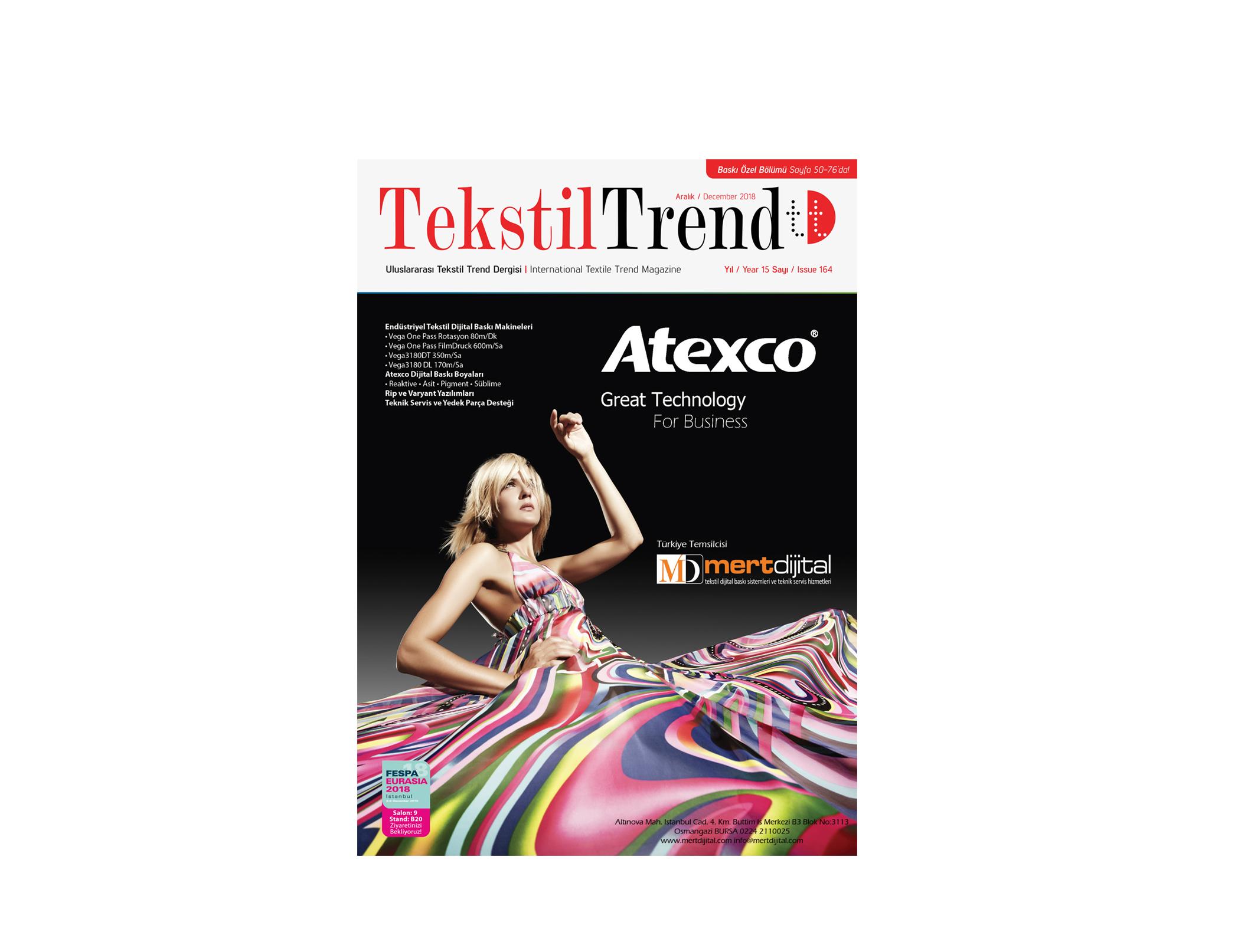 Tekstil Trend Dergisi December/Aralık 2018