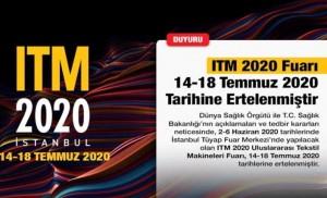 ITM 2020 35.Uluslararası Tekstil Makineleri Fuarı Ertelendi